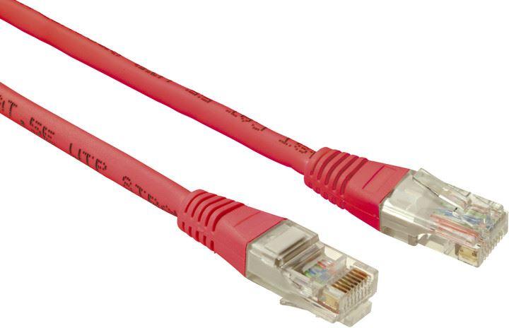 SOLARIX patch kabel CAT5E UTP PVC 0,5m červené