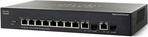 Cisco SF302-08, 8x10/100 + 2xSFP Manag. Switch