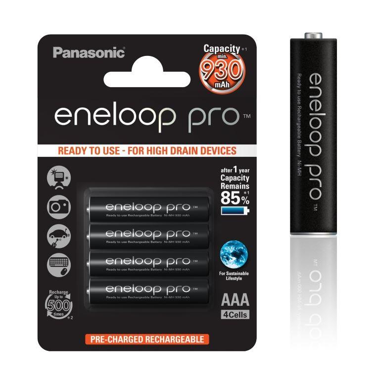 Panasonic Eneloop Pro AAA NiMH 1,2V 930mA BL4