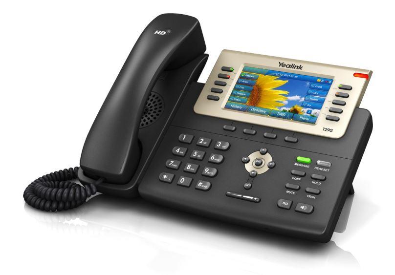 "Yealink SIP-T29G PoE, 4,3"" LCD, 27 prog.tl., GigE"