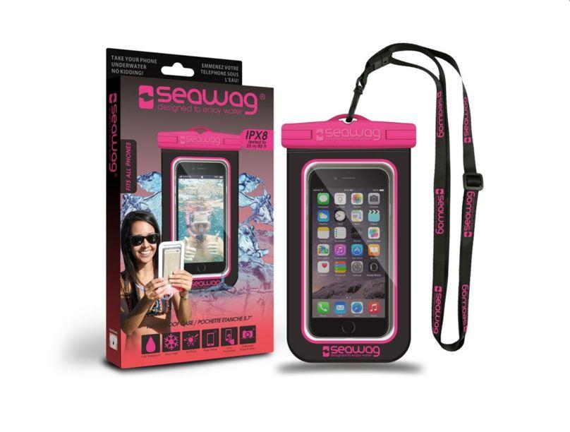 SEAWAG Voděodolné pouzdro pro telefon Černá/Růžová