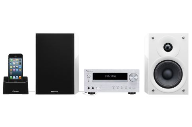 Pioneer HiFi systém s CD, USB, BT bílý