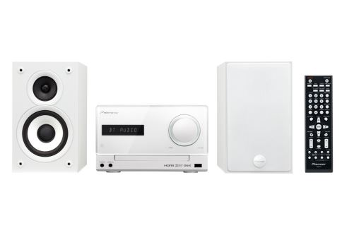 Pioneer systém s CD,DVD,USB a Bluetooth, bílý