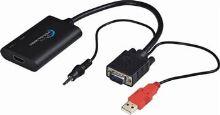 PremiumCord HDMI elektronický konvertor na rozhraní VGA + audio