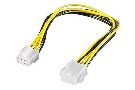 P4 (8pinů) napájecí prodlužovací kabel 20cm