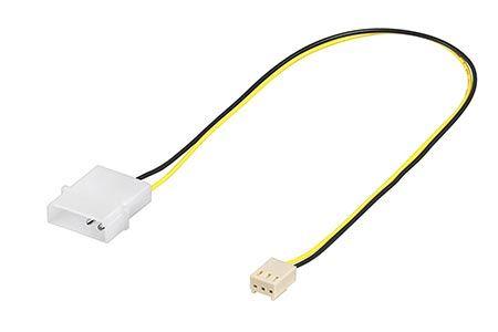 Napájecí kabel pro ventilátory 4pin-3pin, 30cm