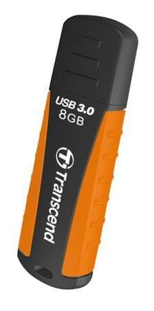 Transcend 8GB JetFlash 810, USB 3.0 flash disk, oranžovo-černý, odolá nárazu, tlaku, prachu i vodě