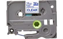 Brother - TZ-133 průsvitná / modrá (12mm, laminovaná)