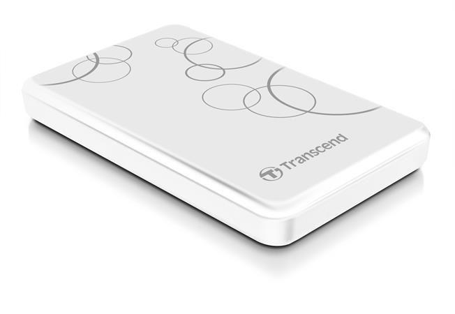 """Externí pevný disk TRANSCEND 1TB StoreJet A3, USB 3.0, 2.5"""" Stylový, odolný"""