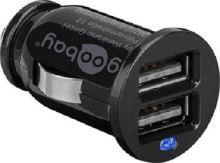 goobay Napájecí 12V autoadaptér na 2x USB 2,1A černý