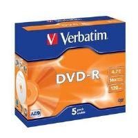 DVD-R médium Verbatim 4,7GB 16x speed, jewel