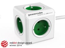 Allocacoc PowerCube Extended Green (1,5m)
