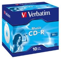 CD-R médium VERBATIM 80min, MUSIC Live it! Colour,