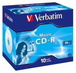 CD-R médium VERBATIM 80min, MUSIC Live it! Colour,