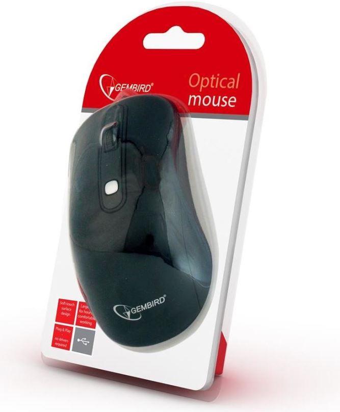 Myš GEMBIRD MUSW-106, černá, bezdrátová, USB nano receiver
