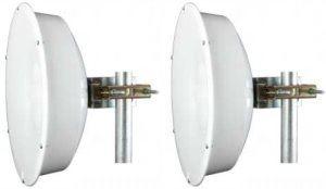 Jirous JRC-24EX MIMO • Parabolická dvoupolarizační anténa 24dBi (2pack) Nfemale