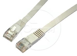 Solarix patch kabel plochý CAT6 UTP LSOH 3m šedý non-snag-proof C6-111GY-3MB
