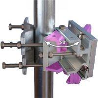 Anténní držák Jirous JDMW-900R s jemným nastavením elevace a azimutu, povrchová úprava chrom