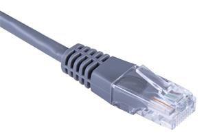 Patch kabel UTP, Cat5e, 0,5m, šedý