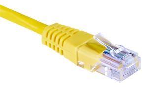 Patch kabel UTP, Cat5e, 1m, žlutý
