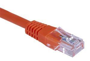 Patch kabel UTP, Cat5e, 0,5m, oranžový