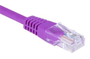 Patch kabel UTP, Cat5e, 0,5m, fialový