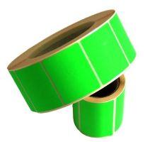 Etikety 100 x 150mm svítivá zelená, cena za 250ks/1role/D25