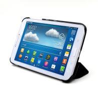 C-TECH PROTECT pouzdro pro Samsung Galaxy TAB 3 8.0, STC-02, černé, wake/sleep funkce